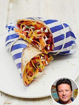 Jamie Oliver's Rainbow Salad Wrap