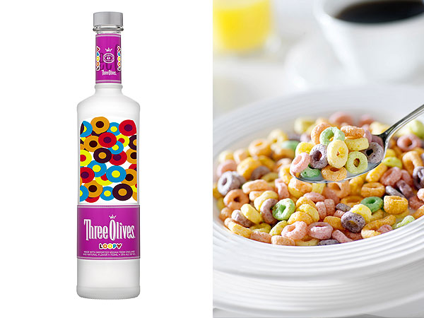 Left: Courtesy Three Olives; Right: Getty