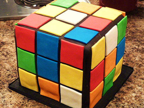 How to make a Rubik's Cube cake