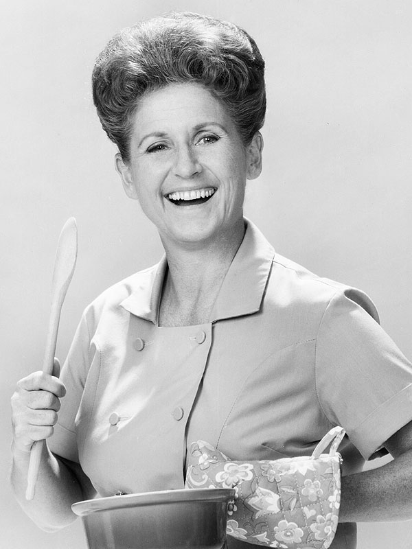 Ann B. Davis as Alice on The Brady Bunch
