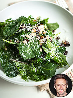 Hugh Jackman's kale salad recipe