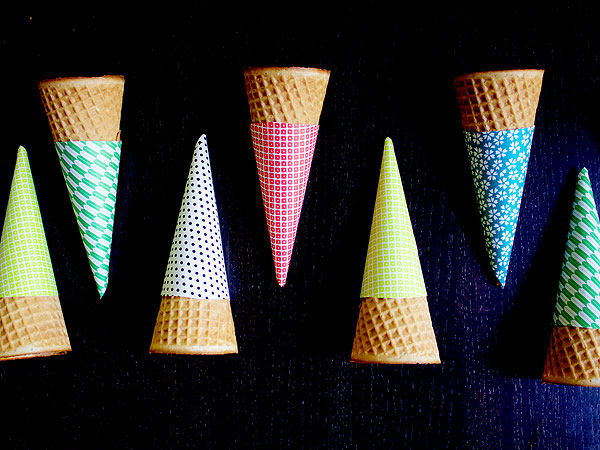 How to make ice cream cone sleeves