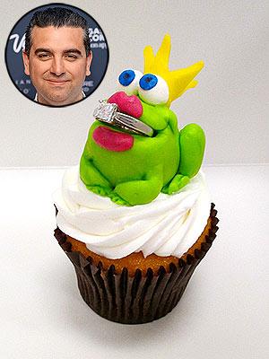 Cake Boss engagement cupcake