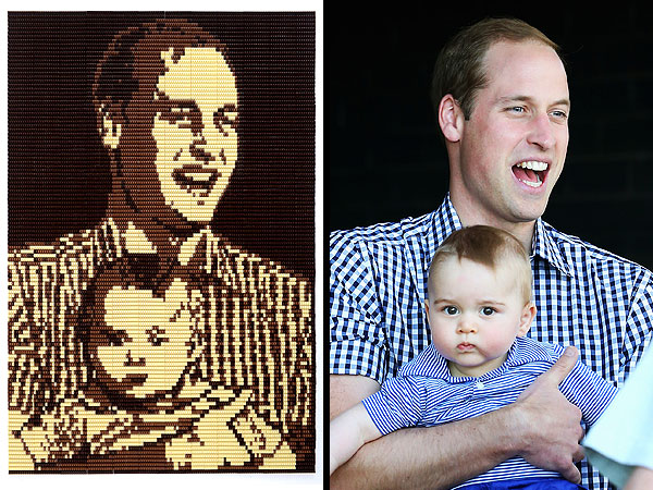 Chocolate portrait of Duke William and Prince George