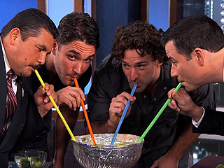 Watch Jimmy Kimmel Drink a Margarita Out of the Stanley Cup | Jimmy Kimmel