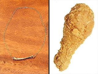 Kentucky Fried Chicken Bone Necklace