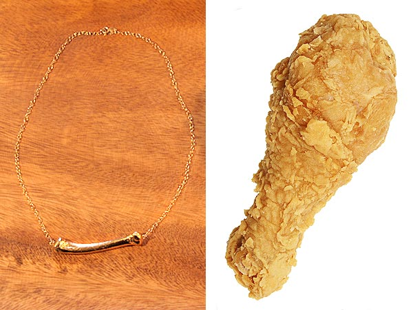 Kentucky Fried Chicken Bone Necklace