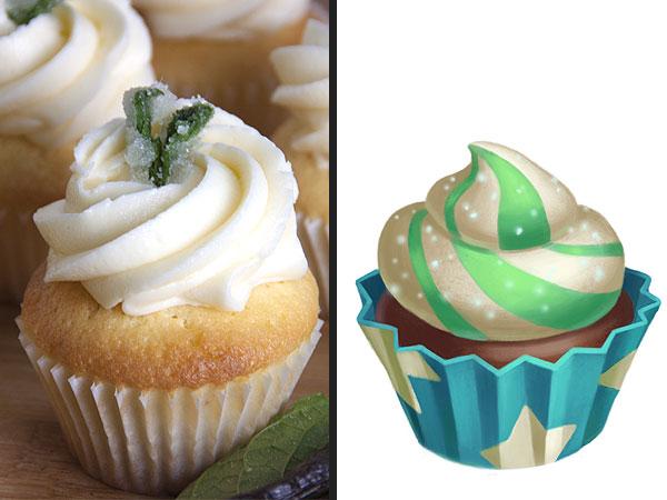 FarmVille Vanilla Mint Cupcake