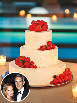 Katie Couric: Strawberry-Lemon Wedding Cake