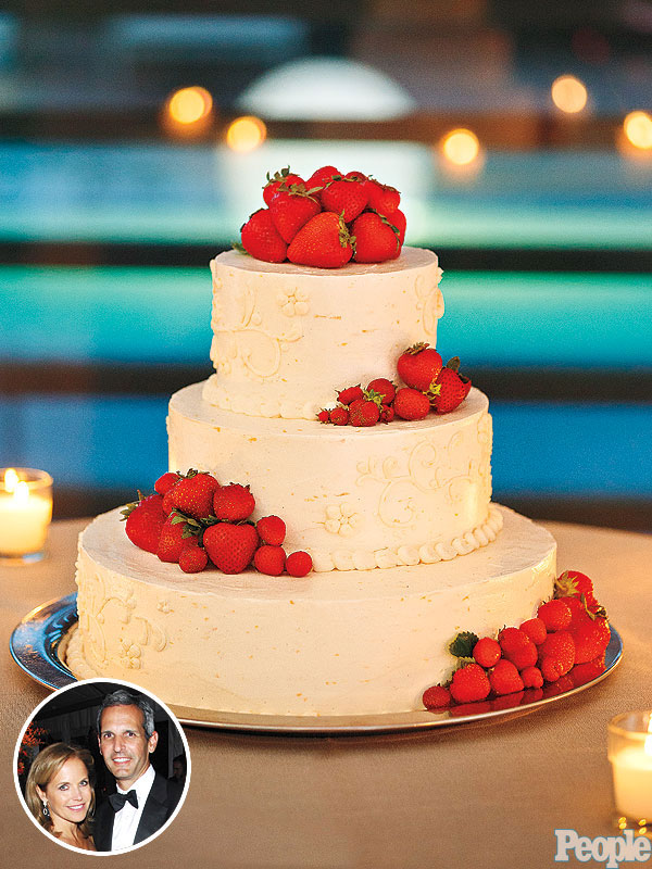 Katie Couric: Strawberry-Lemon Wedding Cake