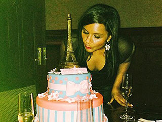 Mindy Kaling Eiffel Tower Birthday Cake
