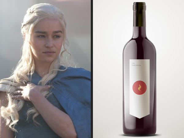 Emilia Clarke in Game of Thrones with the Wines of Westeros