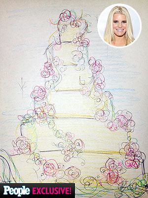 Jessica Simpson's wedding cake
