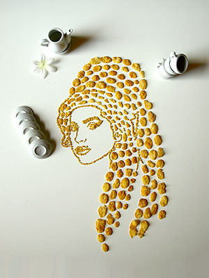Cereal Art: Rihanna