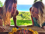 Bikini-Clad Gisele Blows Out Candles on Her Tropical Birthday Cake