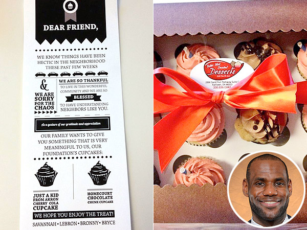 LeBron James Apologizes to Neighbors For the 'Chaos' With Cupcakes