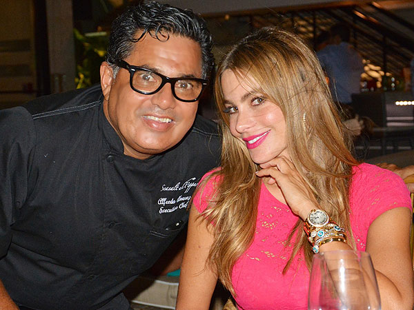 Sofia Vergara and Chef Alfredo Alvarez