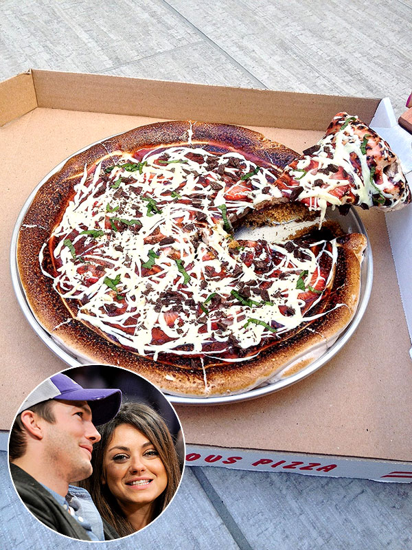 Ashton Kutcher & Mila Kunis Dine at Barton G. in L.A.; S'Mores Pizza - Great Ideas : People.com