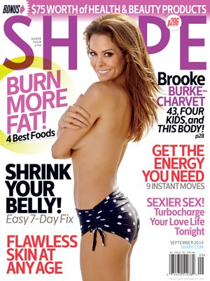 Brooke Burke Shares Her Ab Workout in Shape