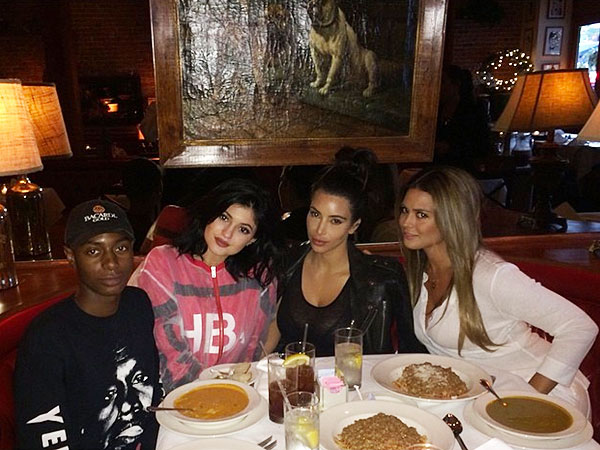 Kim Kardashian and Kylie Jenner at La Scala