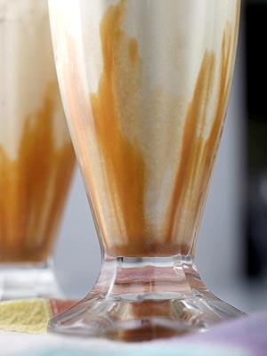 Bakerella's banana caramel bourbon milkshake recipe