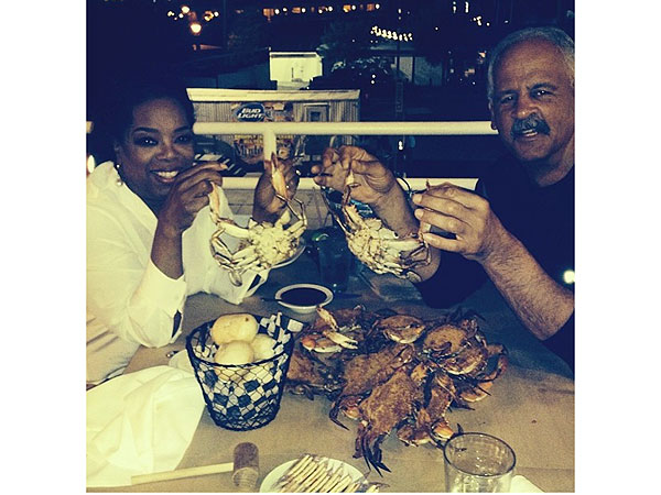 Oprah Winfrey and Stedman Graham at Captain James Landing Baltimore