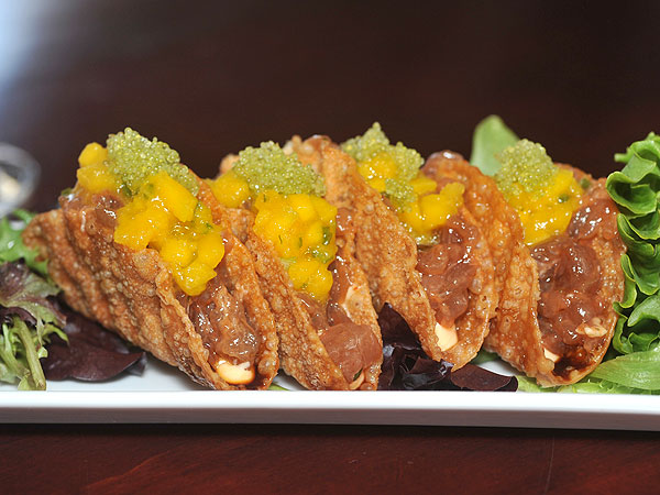 Tuna Tartare Tacos