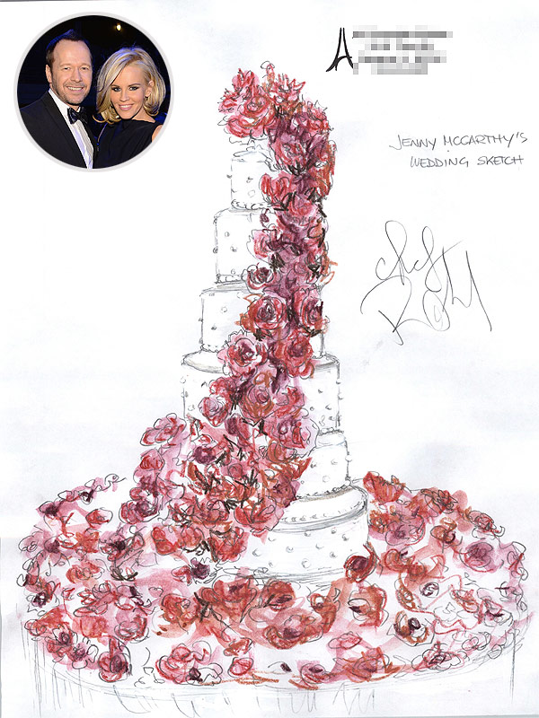 Jenny McCarthy and Donnie Wahlberg Wedding Cake
