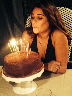 Lea Michele Birthday Cake