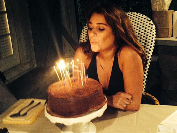Lea Michele Birthday Cake