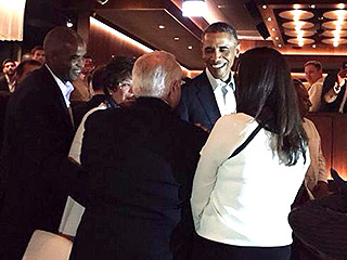President Obama Dines at Bill and Giuliana Rancic's Restaurant in Chicago