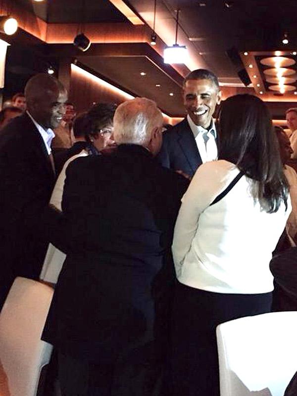 Obama at RPM Steak
