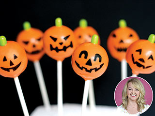 Happy Halloween! Make These Jack-o'-Lantern Cake Pops