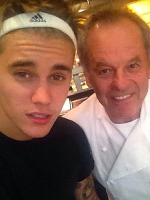Bieber/Puck at Spago