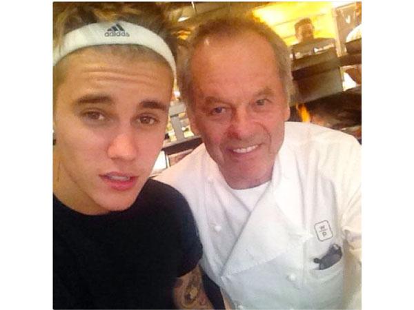 Bieber/Puck at Spago
