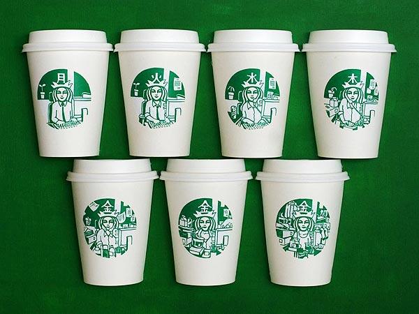 Starbucks Cup Art