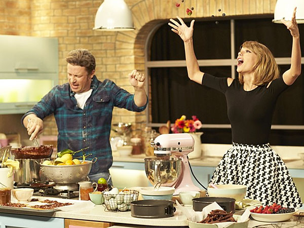 Taylor Swift and Jamie Oliver