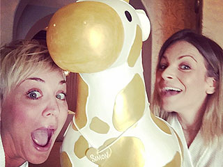 Kaley Cuoco Throws Baby Shower with Massages, Mocktails & a Giant Giraffe Cake (PHOTOS)