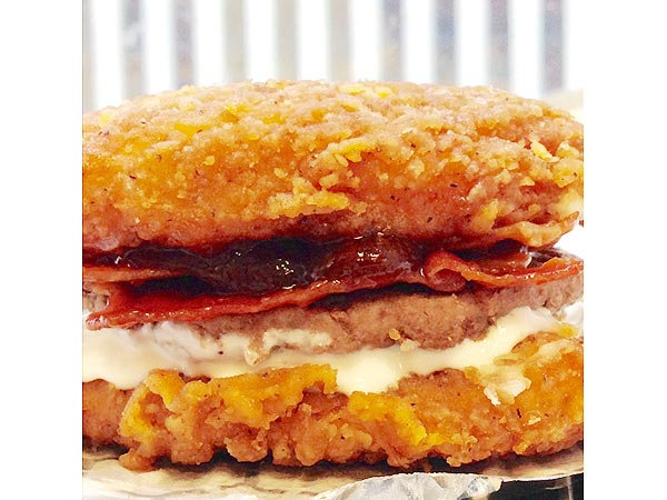 We Tried It  KFC   s New Zinger Double Down King  the Homemade Version    Zinger Double Down