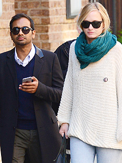 Aziz Ansari and Courtney McBroom