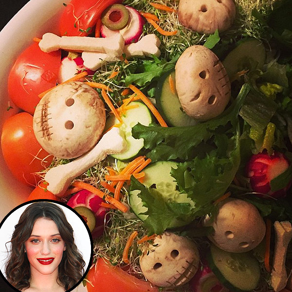 Kat Dennings Halloween Salad