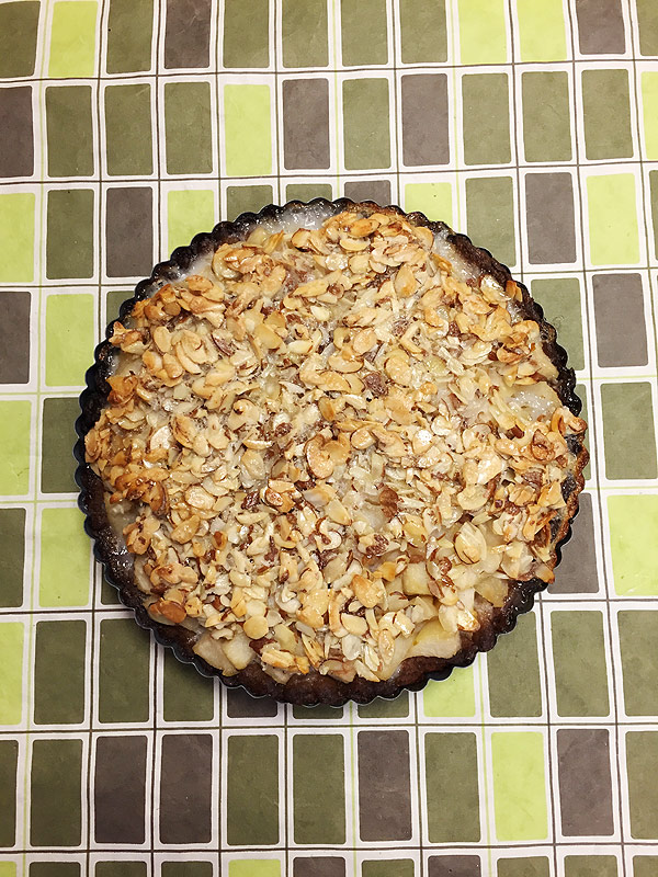 Dorie Greenspan's Pear Tart with Crunchy Almond Topping
