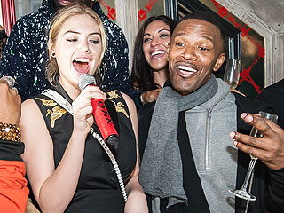 Jamie Foxx's Birthday Blowout Featured Kate Upton Singing, a Massive Cake & More (PHOTOS)