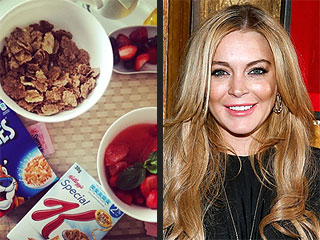 Tweet & Eat! Here's What Your Favorite Stars Are Eating & Drinking Right Now | Lindsay Lohan