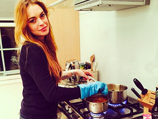See What Lindsay Lohan, Usher & More Are Eating and Drinking Right Now