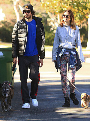 Puppy Love! Leighton Meester & Adam Brody Take Their Dogs for a Walk | Adam Brody, Leighton Meester