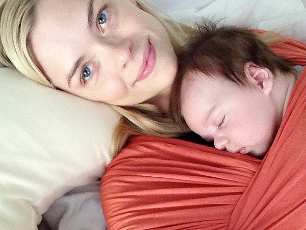 Jamie King Cuddles Up to Newborn Son in Adorable Snapshot