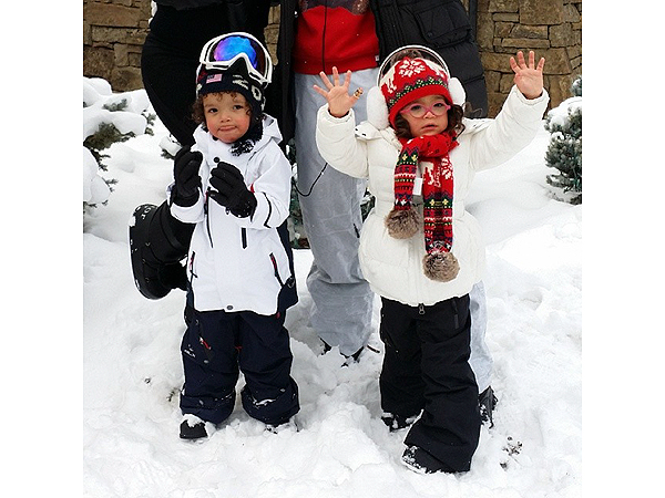 Nick Cannon Shows Off the Cutest Photos of His Twins in the Snow