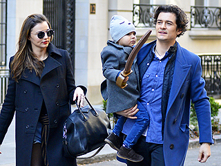 Orlando Bloom and Miranda Kerr Spend Christmas Eve with Son Flynn