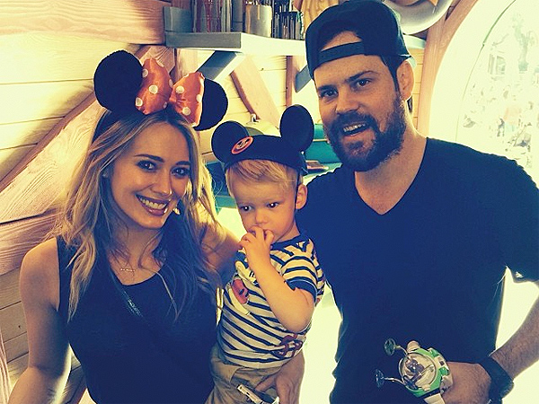 Hilary Duff Luca Disneyland
